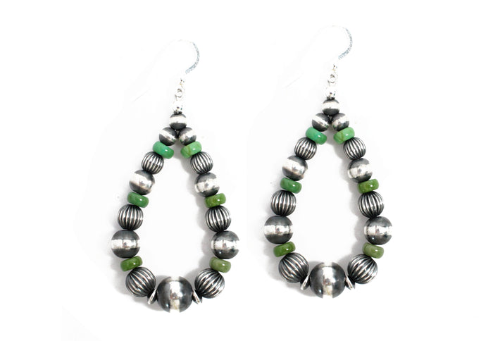 "2 3/4"" Textured Navajo Pearl Earrings - Royston"