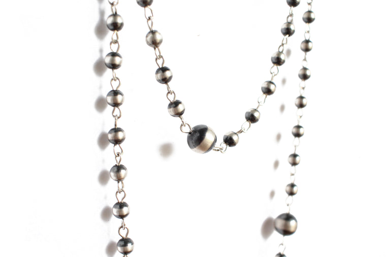 {Rosary Style} Various Size Beads - 60""