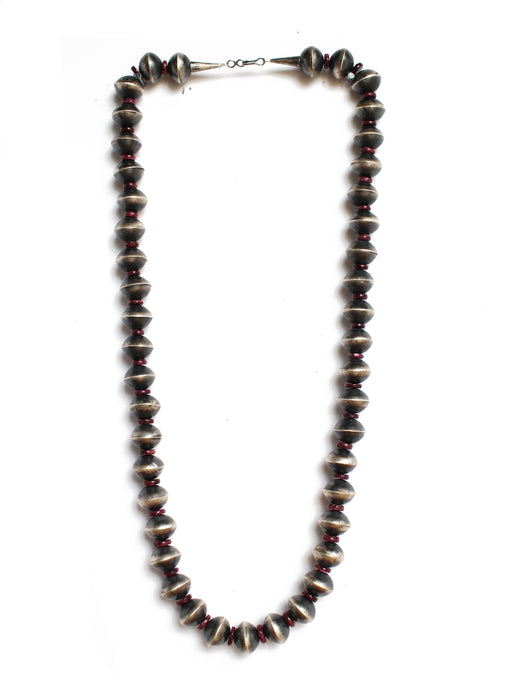 "31"" - 14mm Disk Bead with Purple Spiny Oyster"