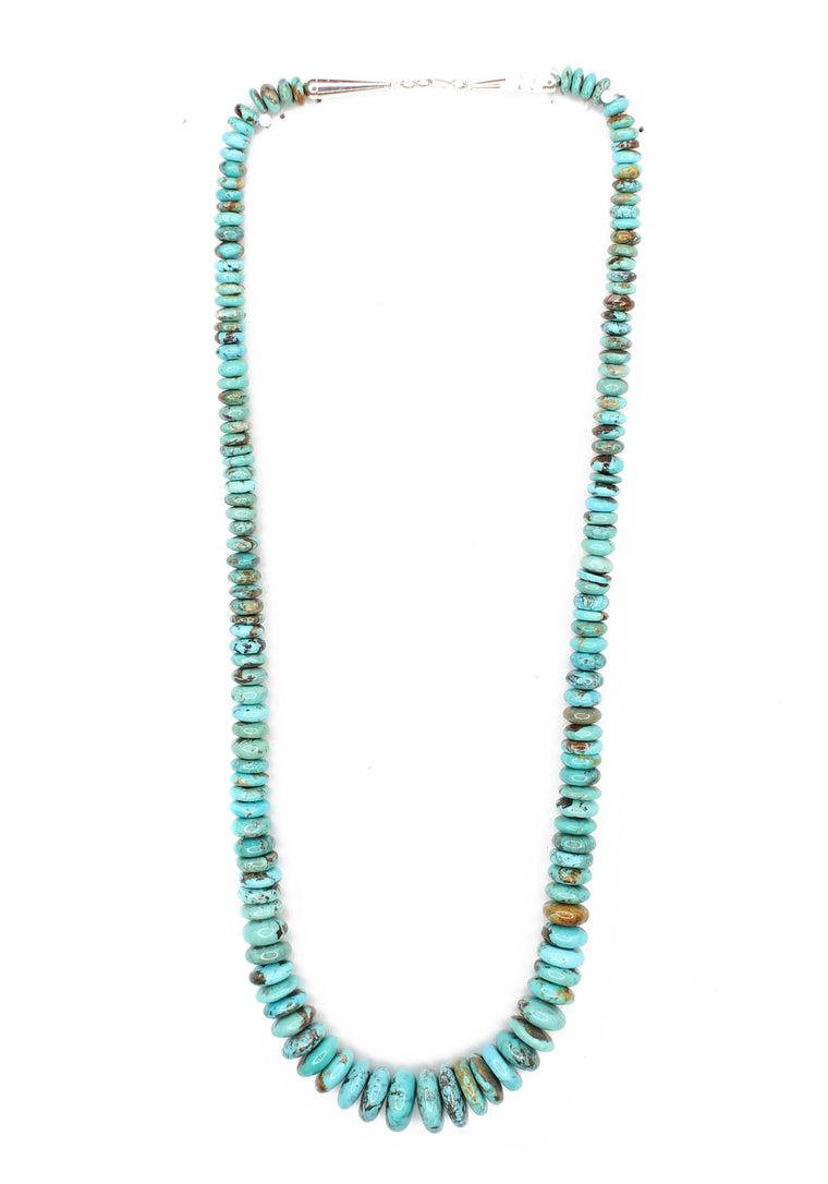 Graduated Kingman Turquoise Necklace - 27