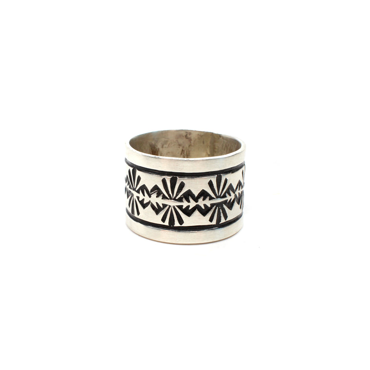 Navajo Rug Pattern Ring (8 1/2)