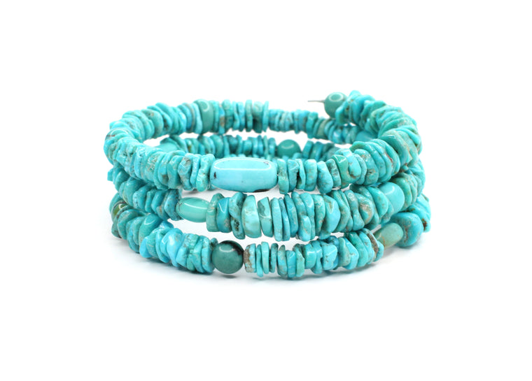 Memory Wire Turquoise Bracelet