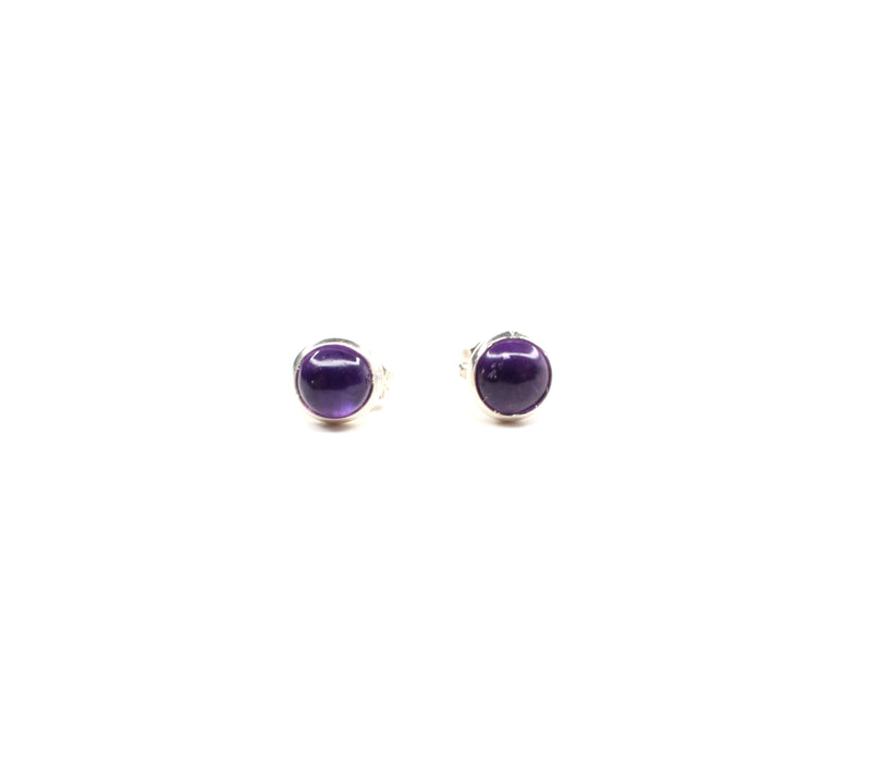 Round Studs - Tiny Purple