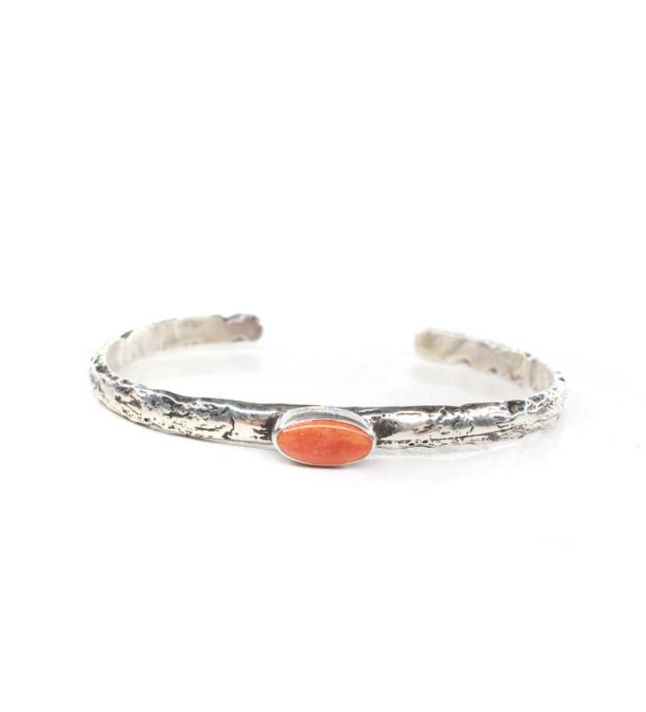 The Kaycee Cuff - Orange Spiny Oyster