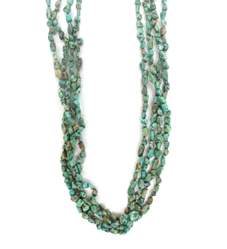 4 Strand Green Turquoise Necklace