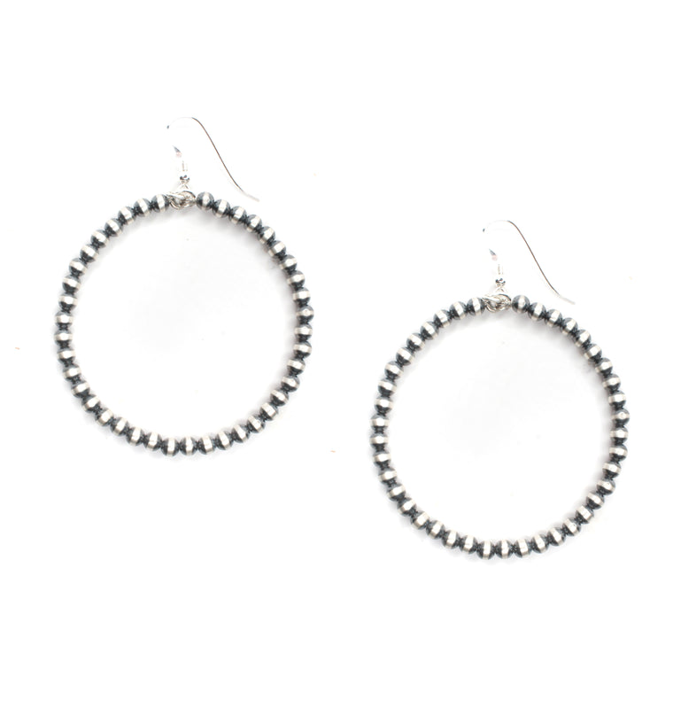 4mm Navajo Pearl Hoops