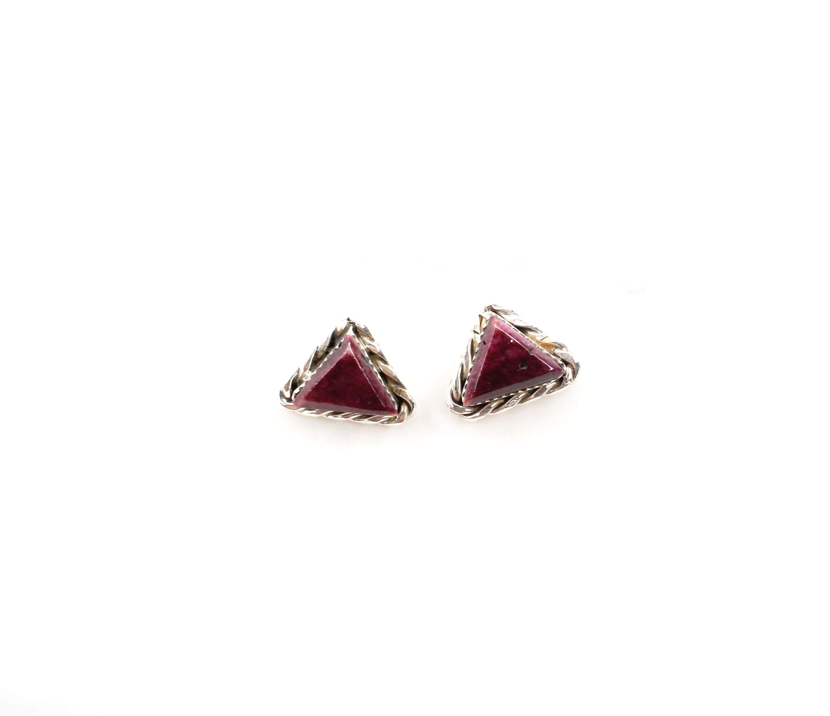 Triangle Studs - Purple Spiny Oyster