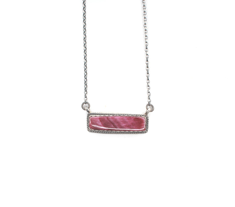 Purple Bar Necklace