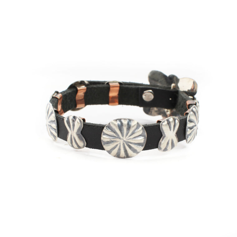 Leather Concho Bracelet