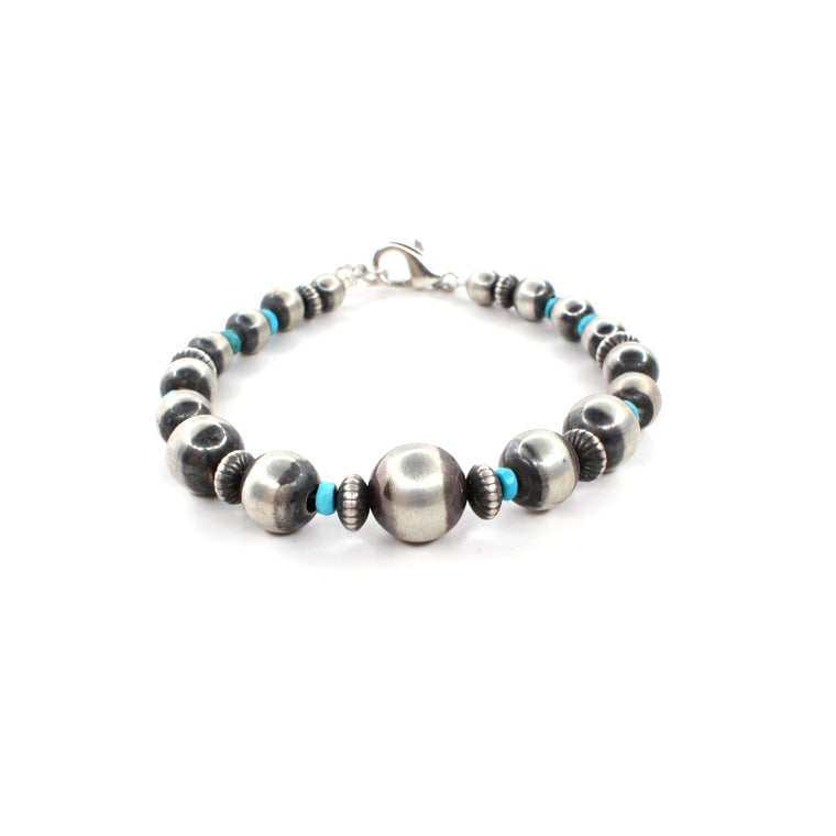 8'' Navajo Pearl Bracelet - Sleeping Beauty