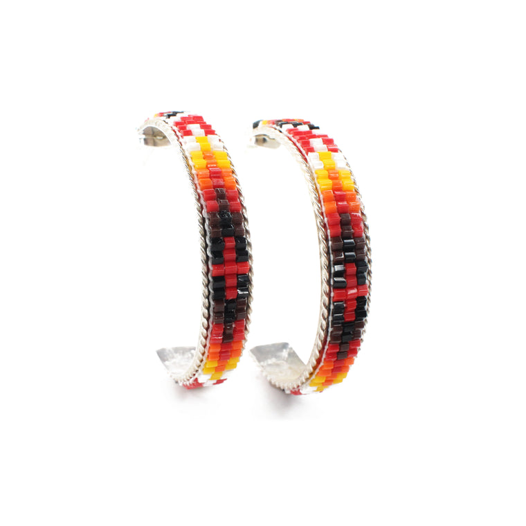 Navajo Beaded Hoops - Small