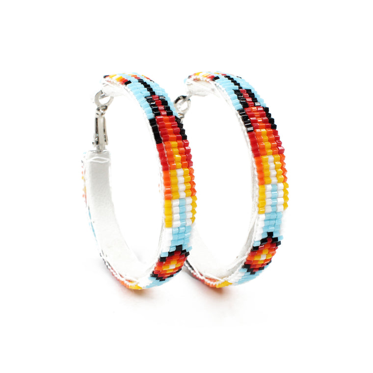Navajo Beaded Hoops - Medium