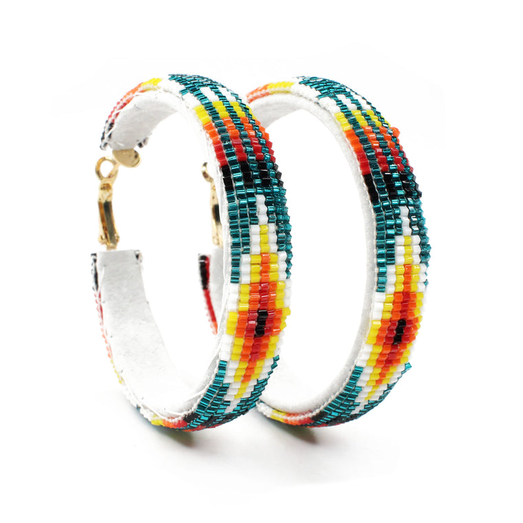 Navajo Beaded Hoops - Large