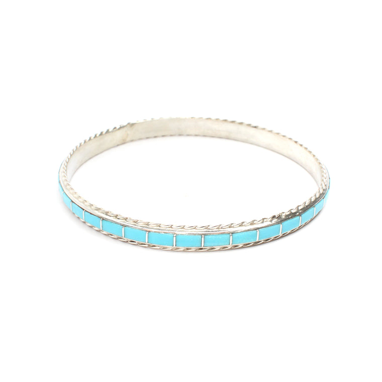 Inlay Bangle - Turquoise (9 1/2