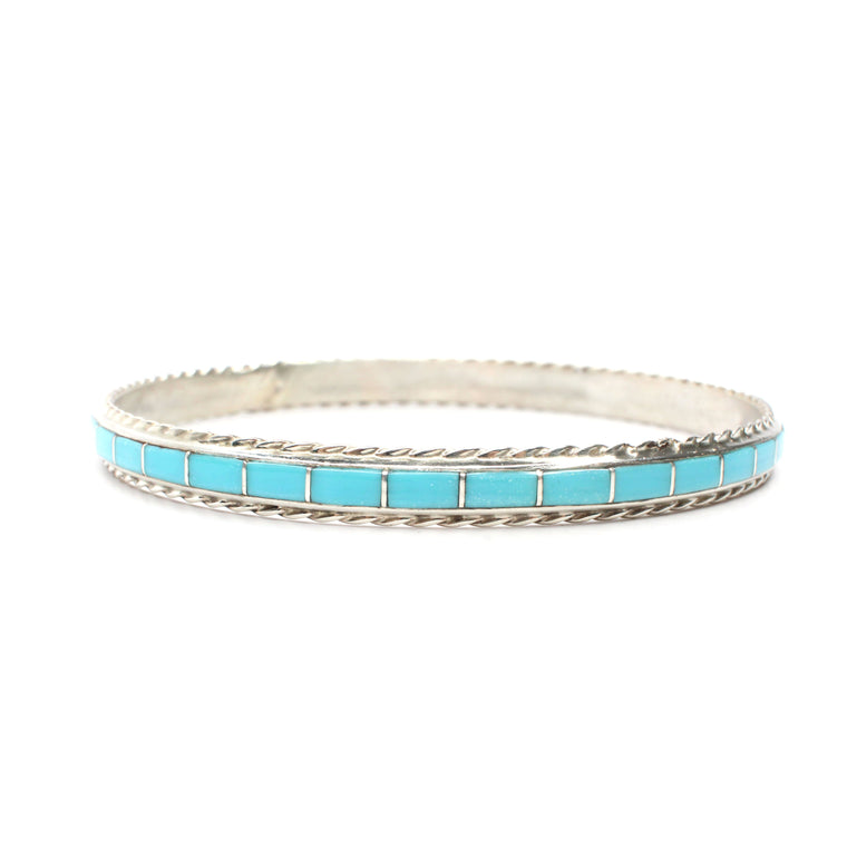 "Inlay Bangle - Turquoise (9 1/2"")"