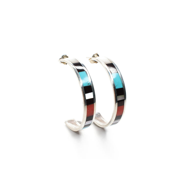 Multi Inlay Hoops