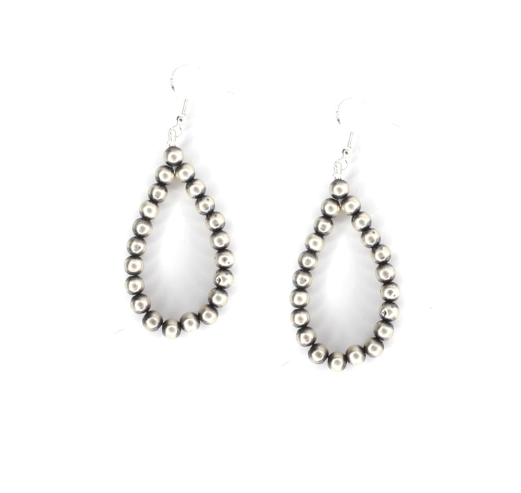 "2 3/4"" Navajo Pearl Earrings"