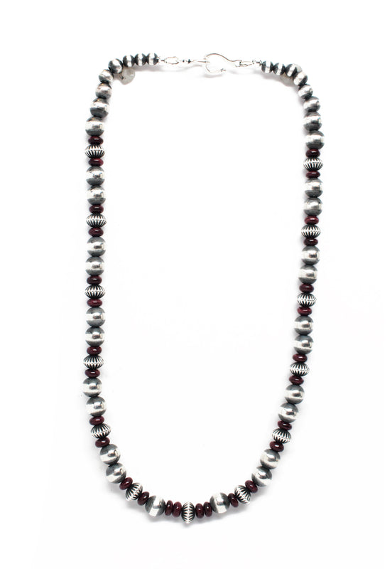 "Navajo Pearls - Purple Spiny Oyster (18"")"