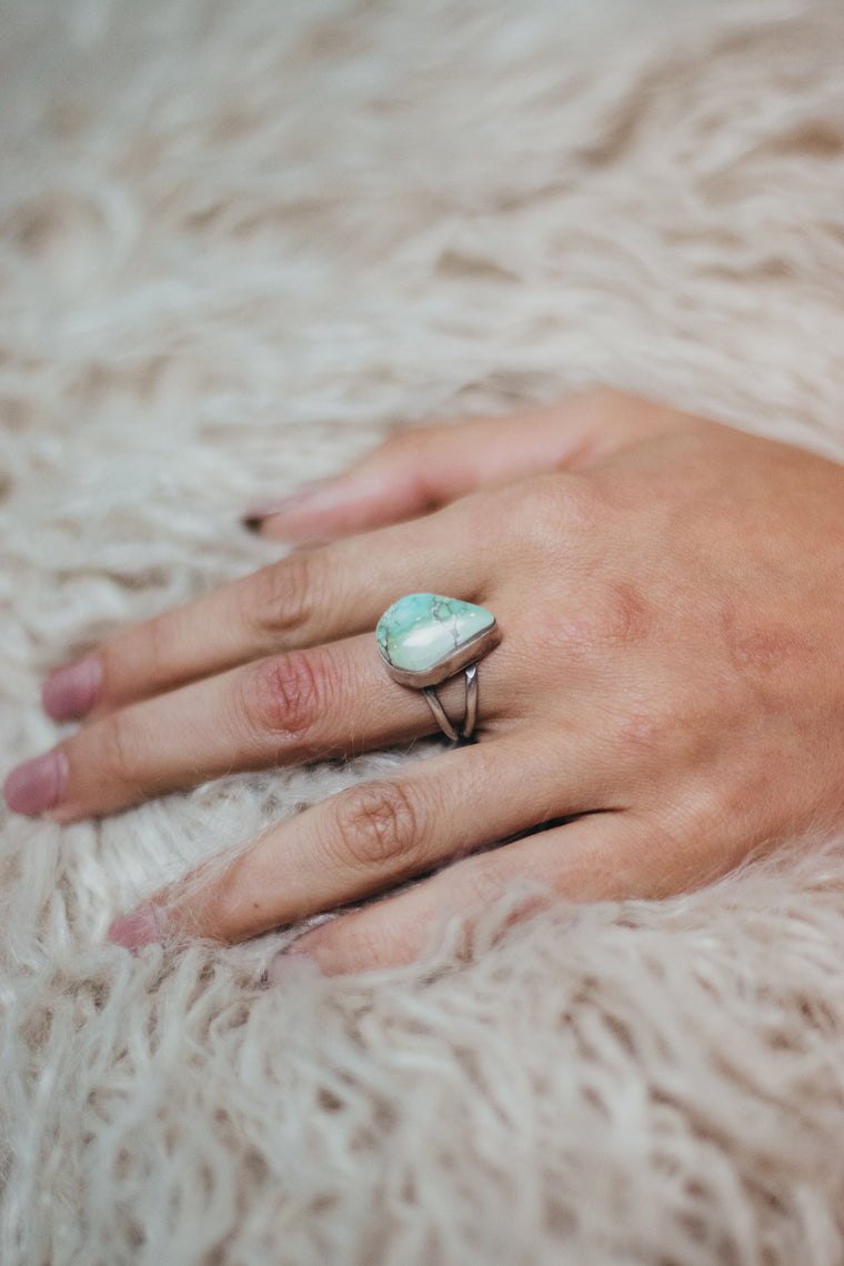 Simple Turquoise Ring (8 1/2)