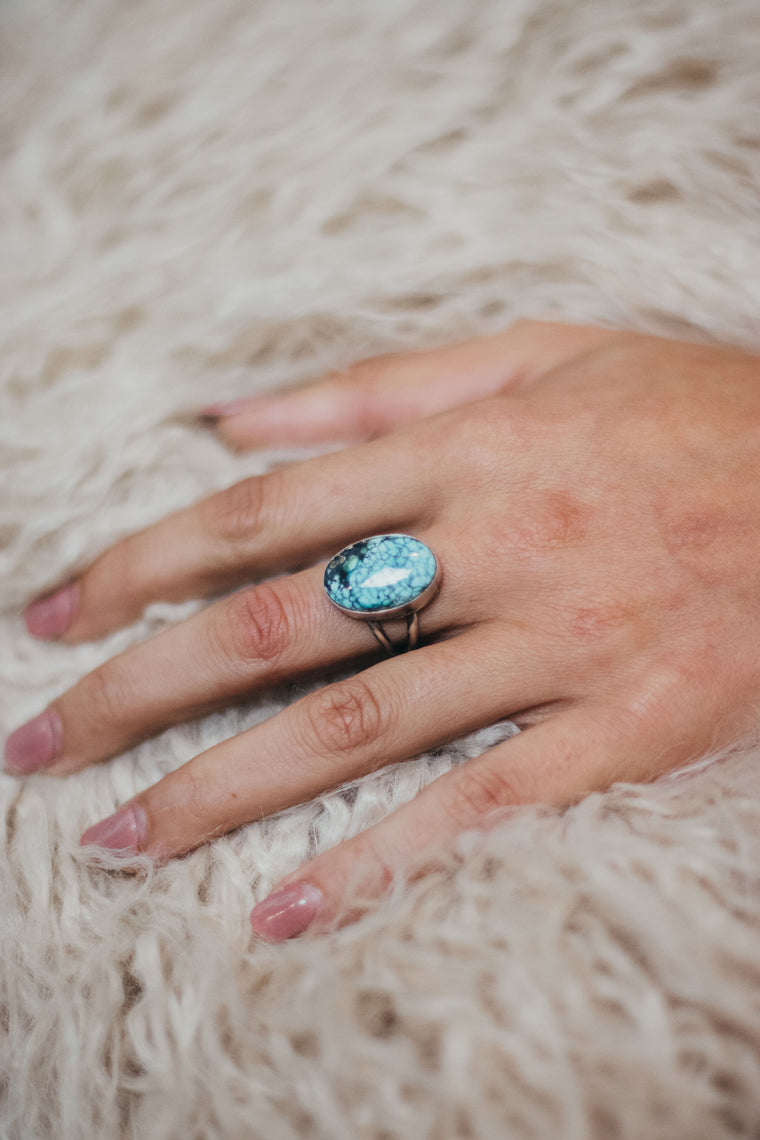 Simple Turquoise Ring (7 1/2)