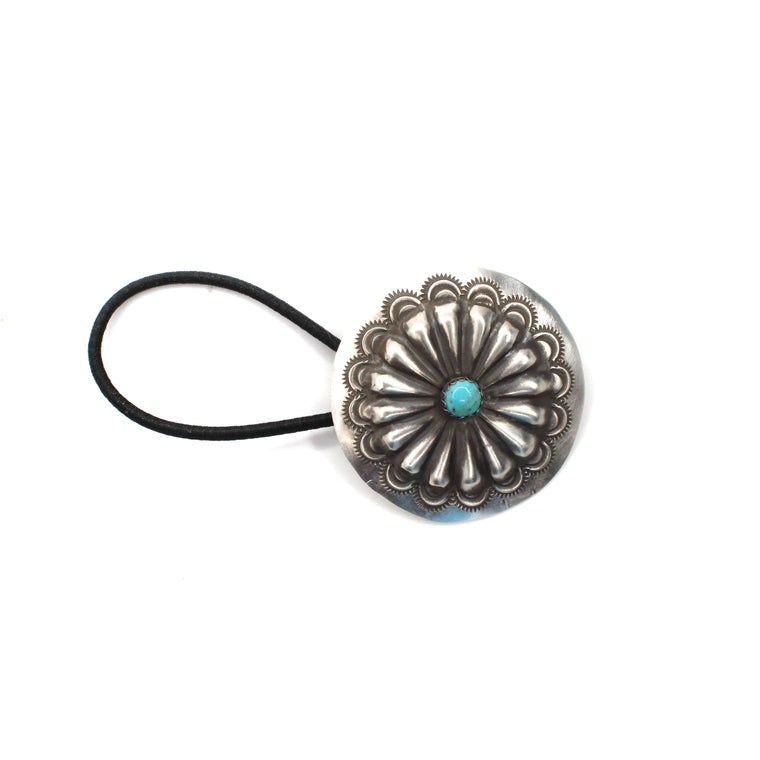 Concho Hair Tie with Turquoise
