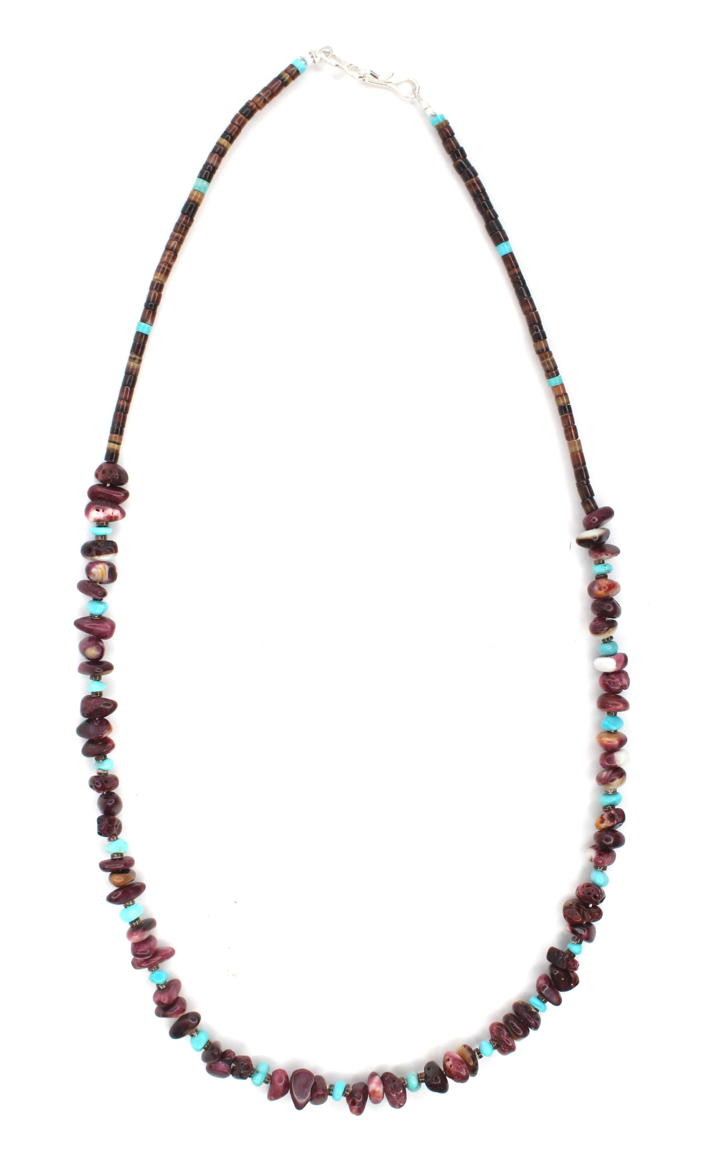 Purple Spiny Oyster Necklace 18""