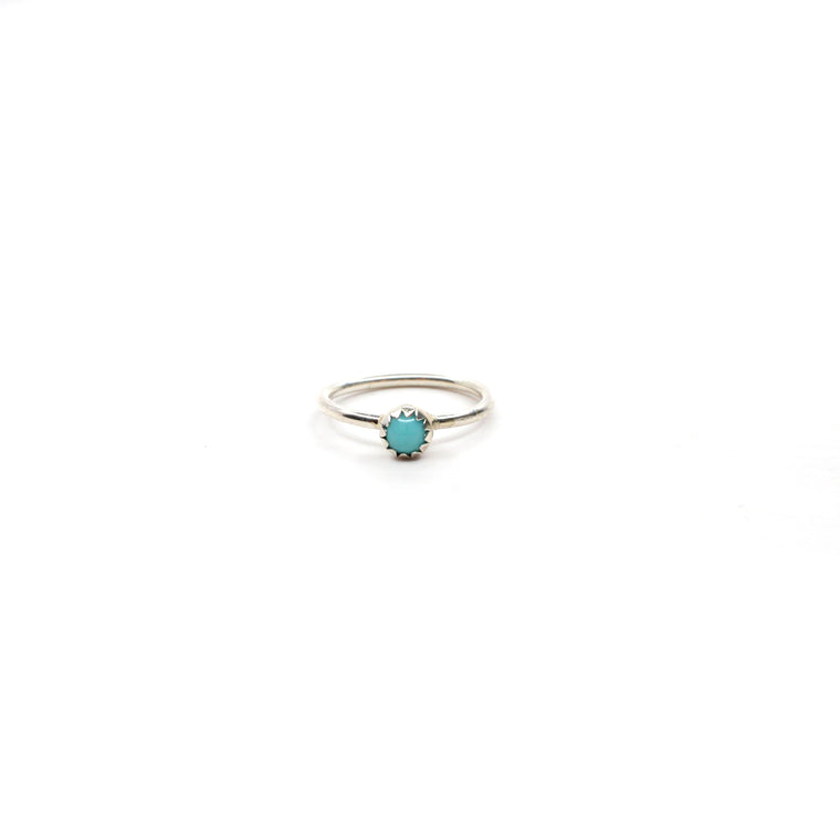 Single Stone Baby Ring - Turquoise