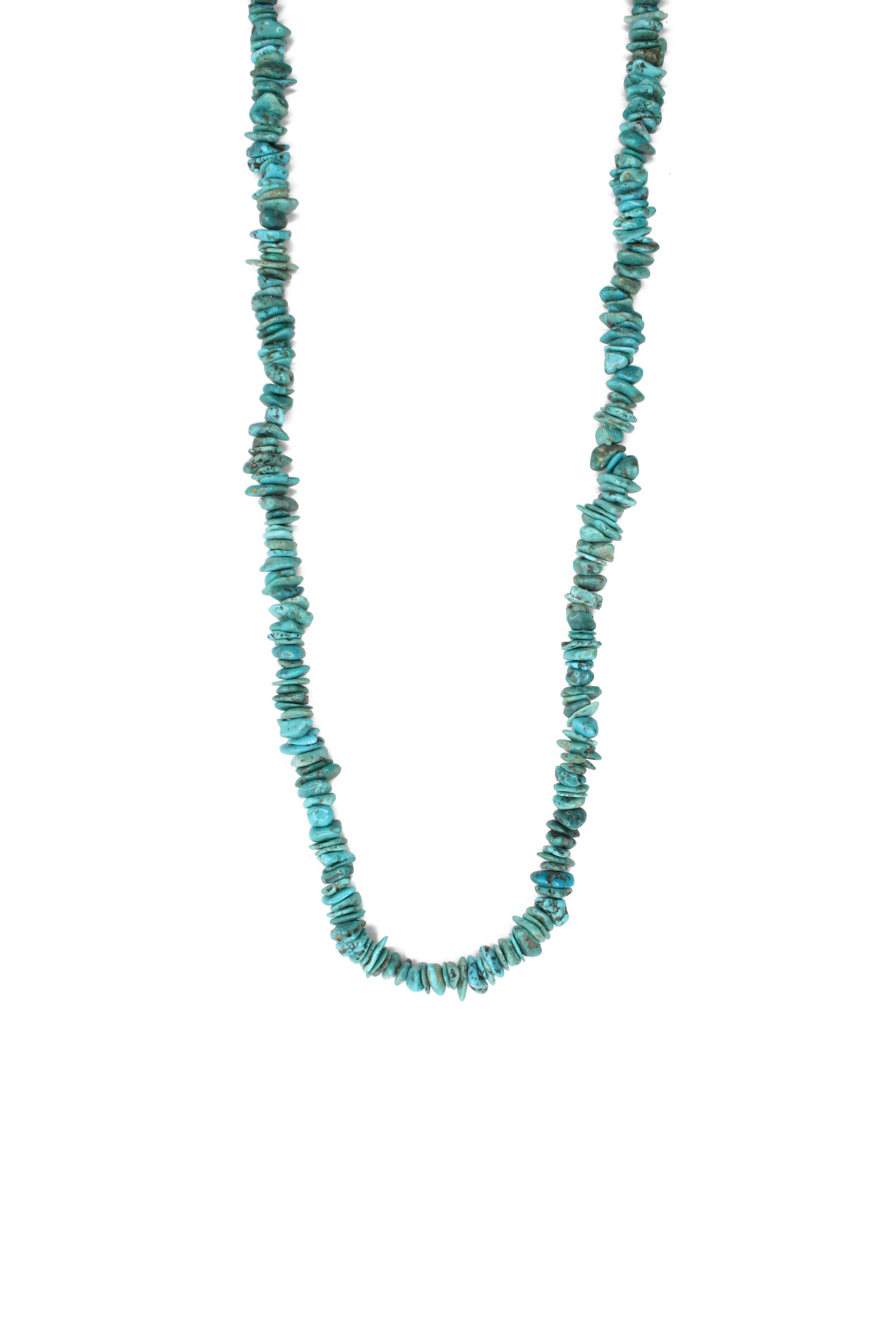 "30"" Turquoise Natural Stone Necklace"