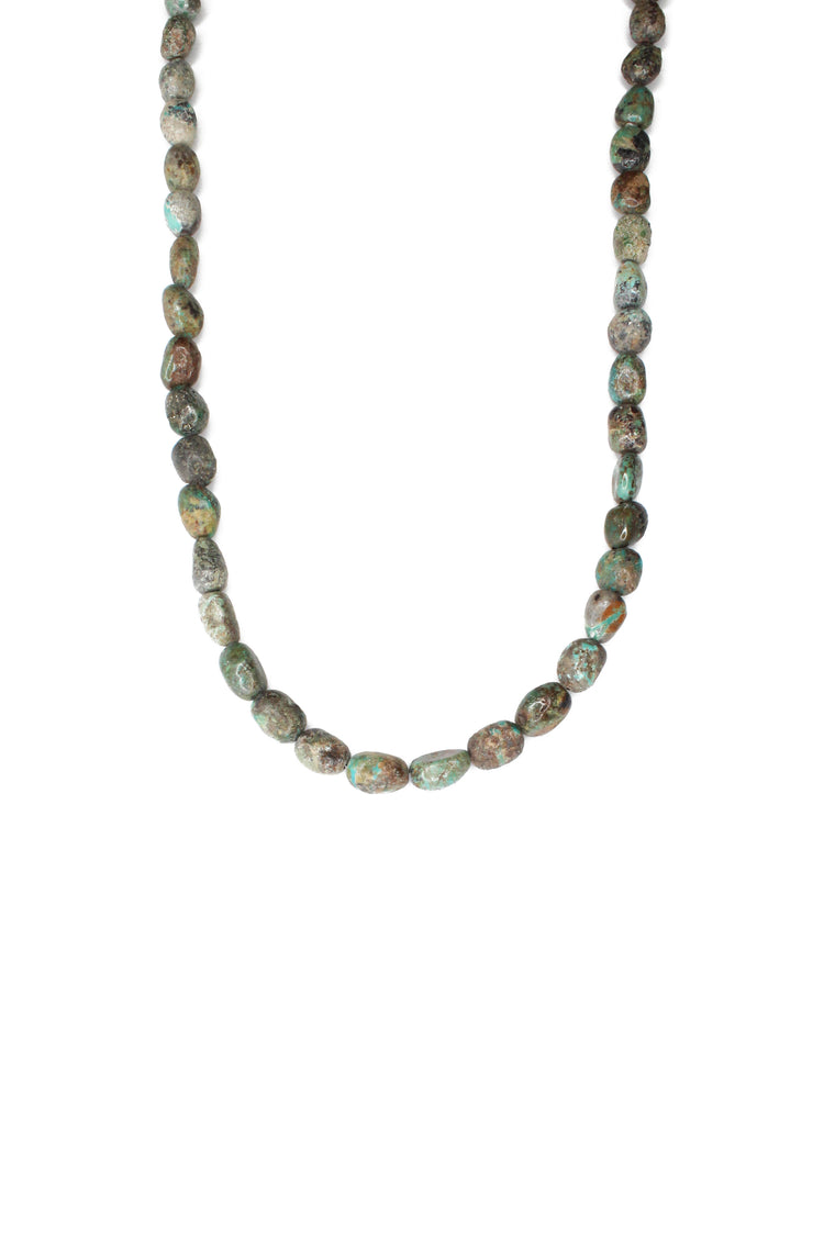 "21"" Turquoise Natural Stone Necklace"