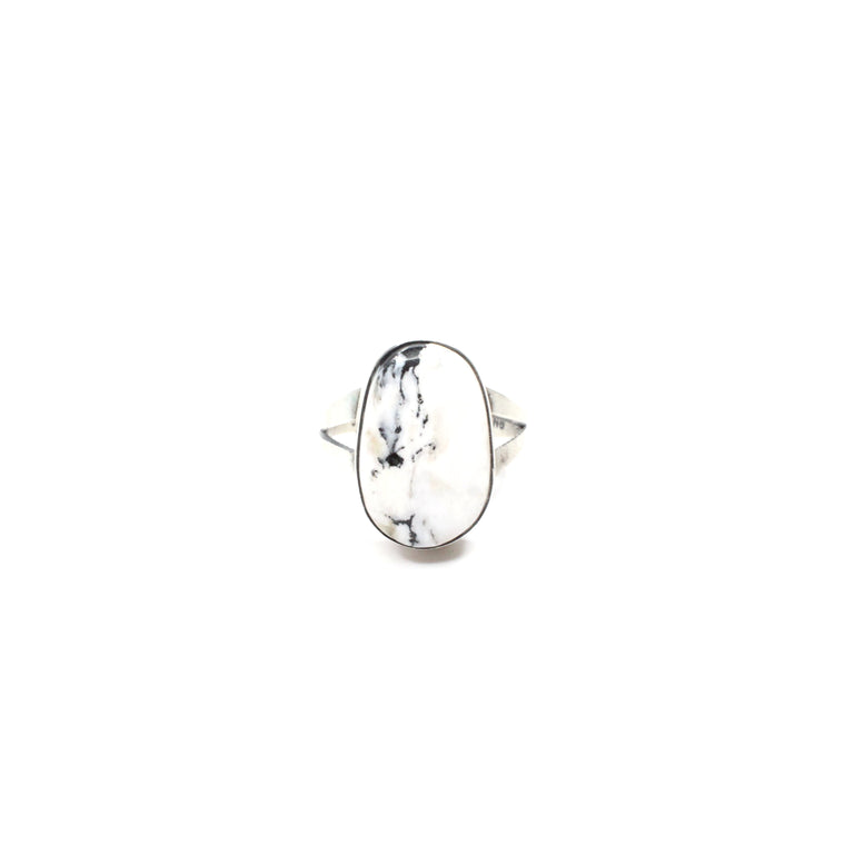 Simple White Buffalo Ring (7)