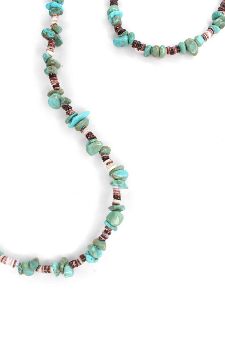 "37"" Continuous Turquoise Strand"