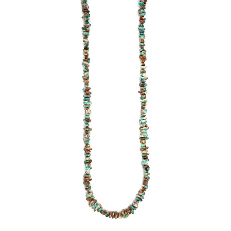 Turquoise Strand Natural Stone Necklace (24