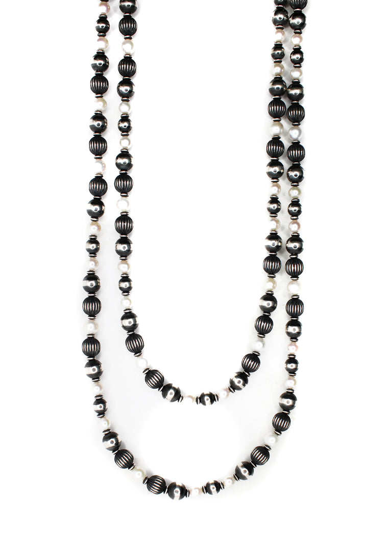 Textured Navajo Pearls - Fresh Water Pearls (60