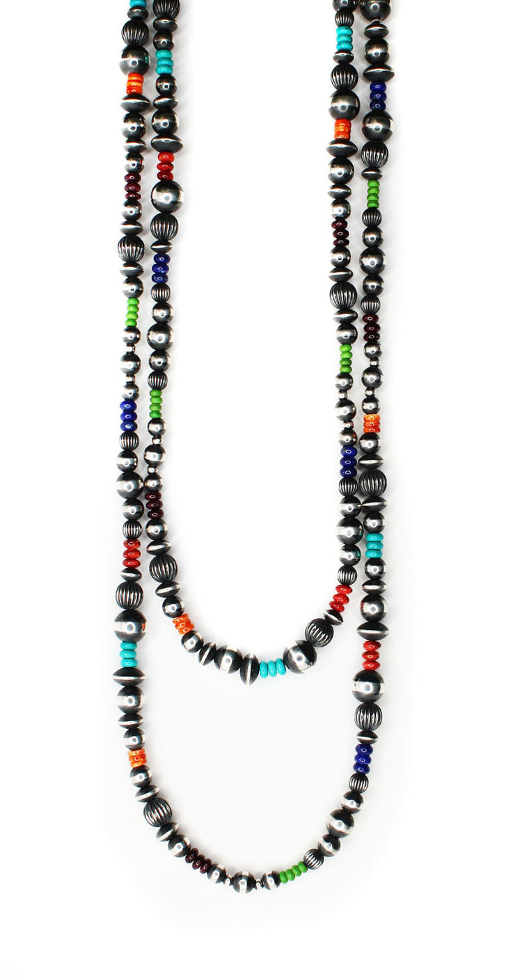 Textured Navajo Pearls - Multi (60