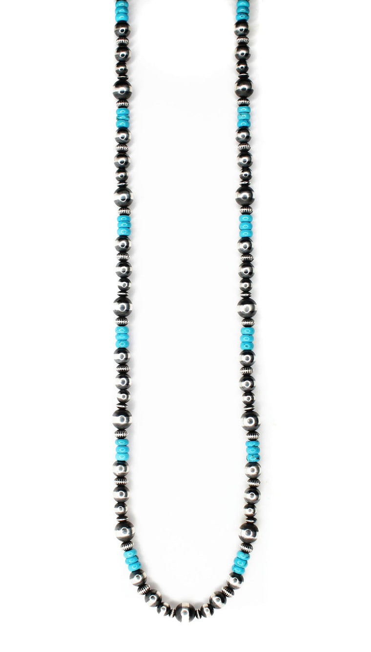 Textured Navajo Pearls - Sleeping Beauty (36