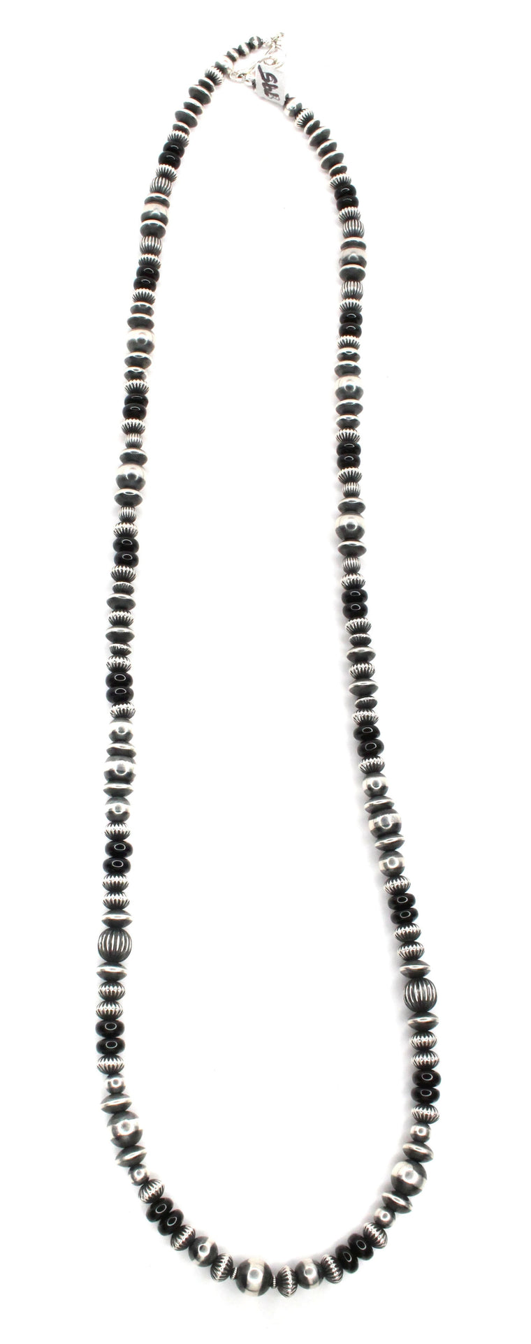 "36"" Navajo Pearls - Onyx (6mm-8mm)"