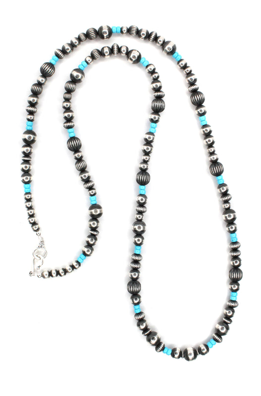 "36"" Navajo Pearls - Sleeping Beauty (6mm-10mm)"