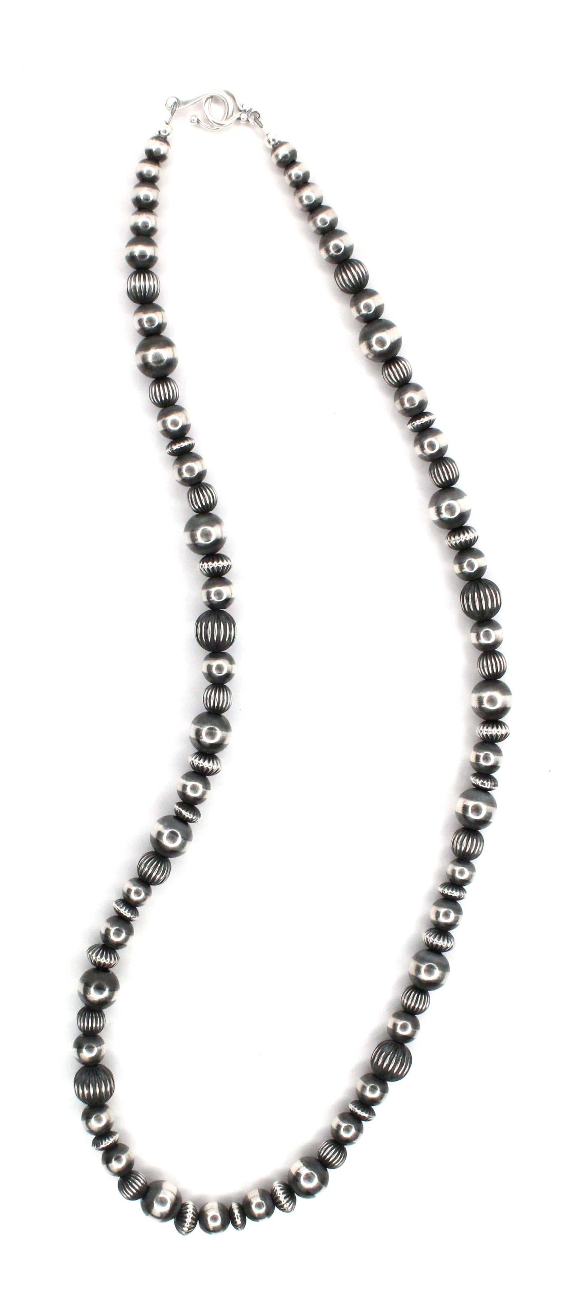 "24"" Textured Navajo Pearls - (8mm-10mm)"