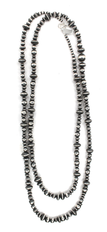 "Textured Navajo Pearls - 60"" (8mm-12mm)"