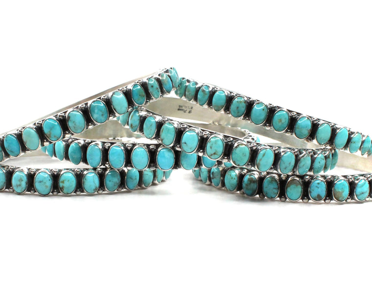 6mm Oval Turquoise Bangle - 8