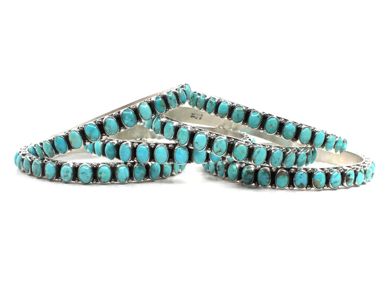6mm Oval Turquoise Bangle - 8""