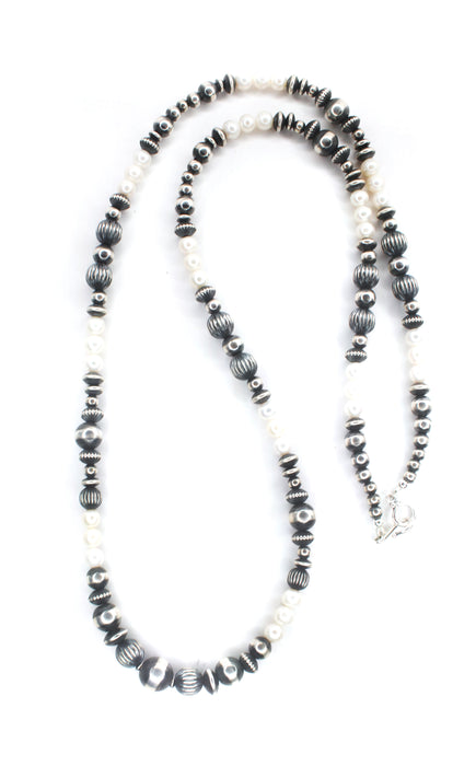 "36"" Navajo Pearls - Fresh Water Pearls (6mm-8mm)"