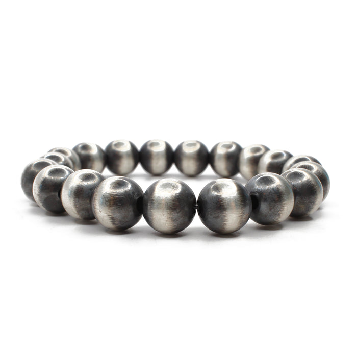 Navajo Pearl Stretch Bracelet  - 10mm