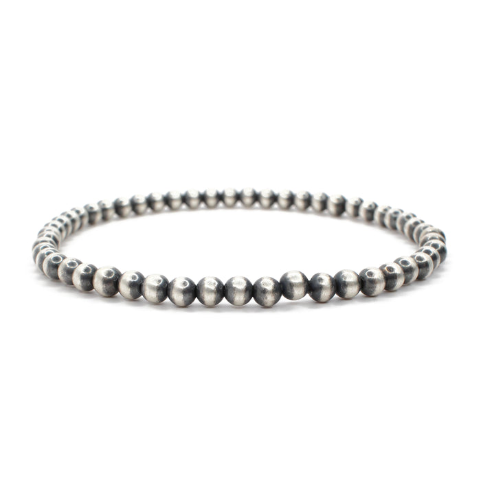 Navajo Pearl Stretch Bracelet - 4mm