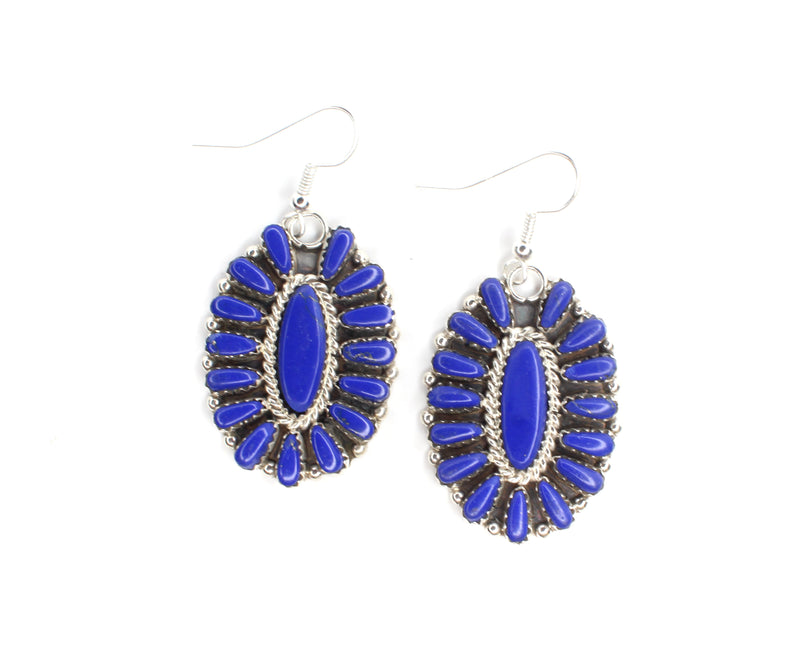 "2"" Cluster Earrings -  Lapis"