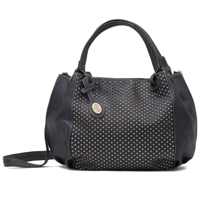 Bora Black Cork Handbag Front