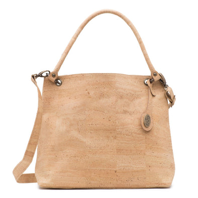 Nile Natural Cork Handbag Front