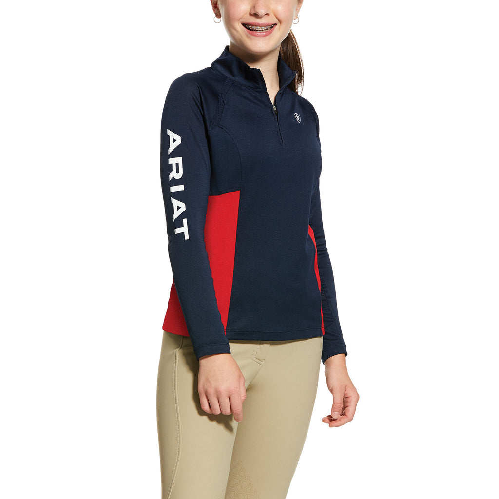 Ariat Kids Sunstopper Team 2.0 1/4 Zip Baselayer Shirt