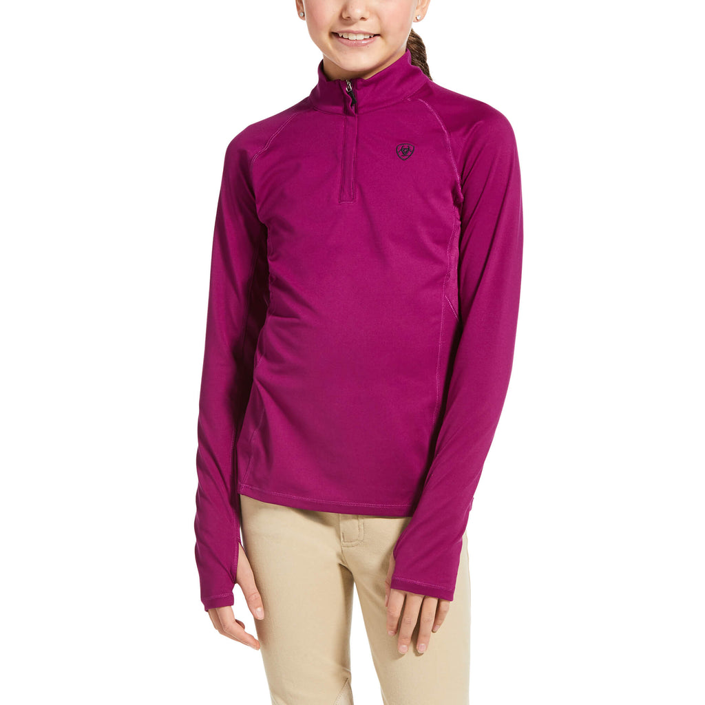 Ariat Girls Lowell 2.0 1/4 Zip Baselayer Shirt