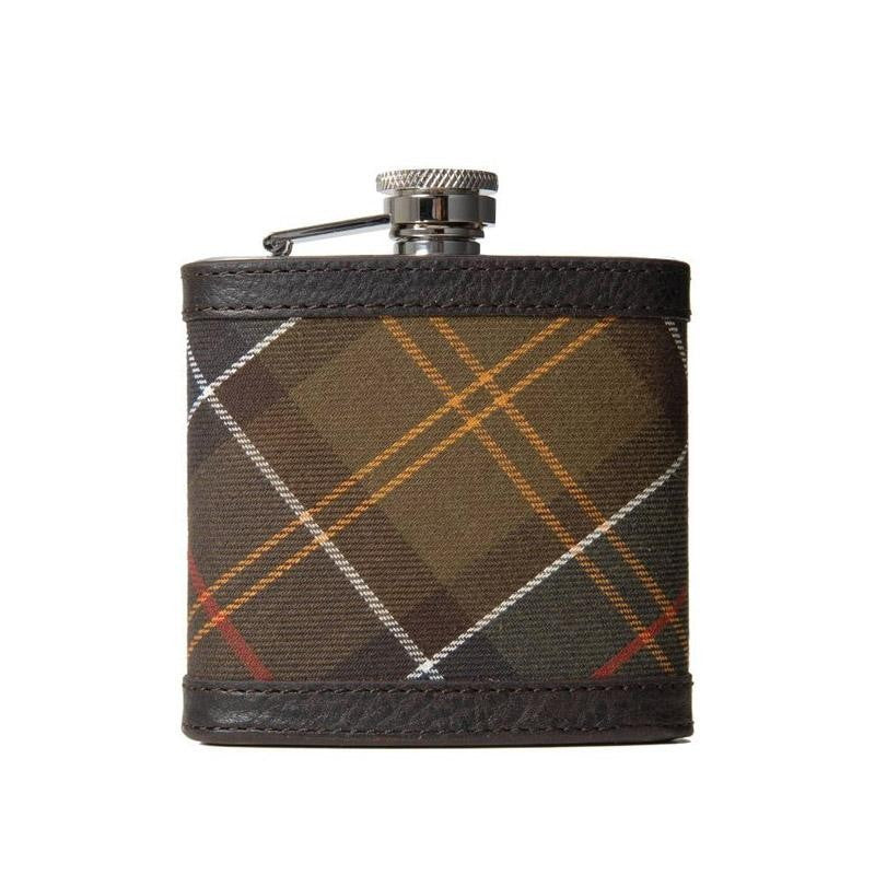 Barbour Hip Flask - Classic Tartan - North Shore Saddlery